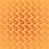 Seamless spiral pattern orange mint blurred. Abstract geometric seamless background. Regular spiral pattern in red and orange shades with mint green, centered stock illustration