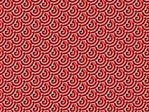 Regular spirals pattern red pink black diagonally. Abstract geometric seamless background. Regular spirals pattern red, pink and black diagonally Stock Photo