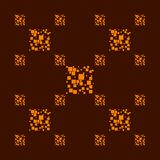 Seamless squares pattern brown orange Stock Images