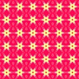 Seamless regular stars pattern red yellow pink. Abstract geometric seamless background. Regular stars pattern red, yellow and pink Royalty Free Stock Photo