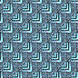 Regular zigzag pattern  turquoise black purple diagonally. Abstract geometric seamless background. Regular zigzag pattern  turquoise, black and purple diagonally Royalty Free Stock Photos
