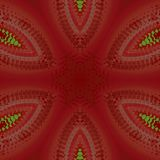 Seamless star pattern red brown green Stock Photography