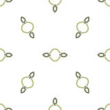 Abstract Geometric  seamless colorless pattern on white background Stock Images
