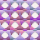Abstract geometric seamless 3d purple colored pattern. Vector EPS 10 Stock Images
