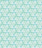 Abstract geometric seamless grid green polygonal triangle backgr Stock Images