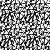 Abstract geometric seamless hand drawn pattern. Modern grunge texture. Monochrome brush painted background. Abstract geometric seamless hand drawn pattern Royalty Free Stock Image