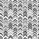 Abstract geometric seamless hand drawn pattern with tribal motifs. Modern texture. Monochrome free hand background. Abstract geometric seamless hand drawn Royalty Free Stock Photo
