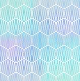 Abstract geometric  seamless hexagon pattern. Royalty Free Stock Image