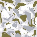 Abstract geometric seamless military camouflage covers pattern. Fashion Style Design gray with green. Extreme sport style illustration. Urban royalty free illustration