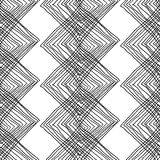 Abstract geometric seamless monochrome background Stock Photography