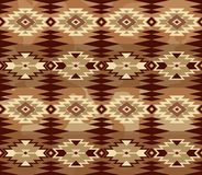 Abstract geometric seamless pattern with aztec ornament. Ethnic. Cloth fabric ornamental background Royalty Free Stock Photography