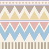 Abstract geometric seamless pattern. Aztec style with triangle and line tribal Navajo pattern. pastel color blue beige pink brown Stock Image