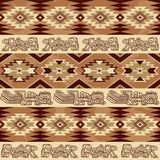 Abstract geometric seamless pattern Aztec traditional ornament. Abstract geometric seamless pattern with aztec traditional ornament. Ethnic tribal ancient Royalty Free Stock Photography