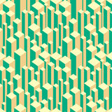 Abstract geometric seamless pattern. Background with squares and cubes. Vector illustration Stock Image