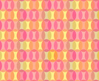 Abstract Geometric Seamless Pattern Background. From Transparent Ovals in Orange, Pink, Yellow and Lilac for Greeting Card or Wrapping Paper. Can also be used Royalty Free Stock Image