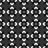 Abstract geometric seamless pattern, black and white pattern style with flowers. Stock Photography