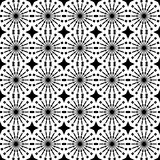Abstract geometric seamless pattern. Black and white style pattern with circle and line. Stock Image