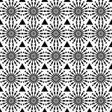 Abstract geometric seamless pattern. Black and white style pattern with circle and line. Stock Photography