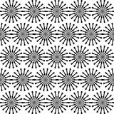 Abstract geometric seamless pattern. Black and white style pattern with circle and line. Royalty Free Stock Photography
