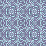 Abstract geometric seamless pattern. Blue style pattern with circle and line. Stock Images