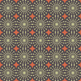 Abstract geometric seamless pattern. Brown style pattern with circle and line. Stock Photography