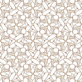 Abstract geometric seamless pattern. Brown and white pattern with line. Royalty Free Stock Photos