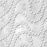 Abstract geometric seamless pattern with circles and snowflakes. Vector illustration Stock Photo