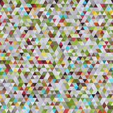 Abstract Geometric Seamless Pattern of Colored Triangles. Colorful Retro Triangle Design Royalty Free Stock Photo
