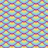 Abstract geometric seamless pattern. Colorful scaly ornament. Stock Image