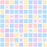 Abstract geometric seamless pattern with colorful Stock Image