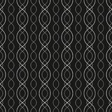 Abstract geometric seamless pattern with curved lines, chains, mesh. vector illustration