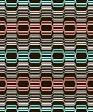 Abstract geometric seamless pattern of curving bands Stock Photography