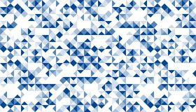 Abstract geometric seamless pattern dark blue color illustration Royalty Free Stock Photos