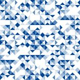 Abstract geometric seamless pattern dark blue color illustration Stock Photography