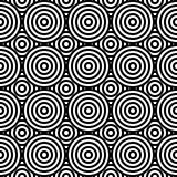 Abstract geometric seamless pattern. Different circles ornament. Stock Images
