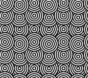Abstract geometric seamless pattern. Different circles ornament. Stock Photography