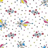 Abstract geometric Seamless pattern. Abstract geometric elements with dots. Seamless pattern Stock Photos
