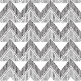 Abstract geometric seamless pattern. Fabric doodle zig zag line Stock Photography