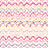 Abstract geometric seamless pattern. Fabric doodle zig zag line Stock Images