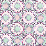 Abstract geometric seamless  pattern. Floral ornamenral texture. Stock Photography
