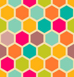 Abstract geometric seamless pattern. Abstract geometrical hexagon seamless pattern stock illustration