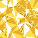 Abstract geometric seamless pattern with gold glitter texture. Abstract geometric seamless pattern with goldglitter texture Stock Photo