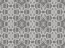 Abstract geometric seamless pattern in gray and white colors Stock Image