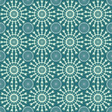 Abstract geometric seamless pattern. Green style pattern with circle and line. Royalty Free Stock Photography