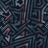 Abstract geometric seamless pattern with grunge effect Stock Photos