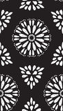 Abstract geometric seamless pattern with hand drow flowers Stock Photo