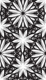 Abstract geometric seamless pattern with hand drow flowers Stock Photography