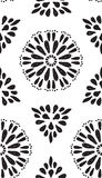 Abstract geometric seamless pattern with hand drow flowers Royalty Free Stock Photo