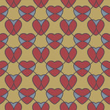 Abstract geometric seamless pattern with hearts Royalty Free Stock Photos
