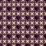 Abstract geometric seamless pattern with hearts Stock Photo